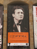 György Cziffra on the frontage of MOMkult